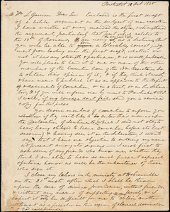 Letter from Charles Simmons, Pawtucket, [Rhode Island], to William Lloyd Garrison, 1838 Oct[ober] 12