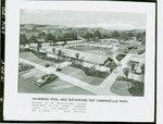 Architectural illustration of the Roy Campanella Park swimming pool and bathhouse