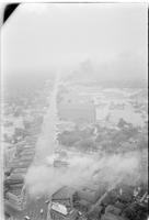 Aerials; Riots: Detroit: Race Riot. Fires.