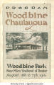Woodbine Chautauqua program, Woodbine, Iowa, Aug. 18-27, 1916