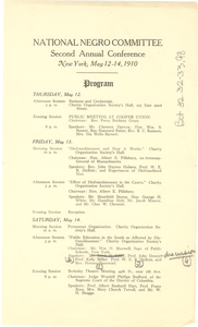 Program of the National Negro Committee Conference
