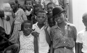Group portrait of young children during Freedom Summer