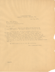 Letter from W. E. B. Du Bois to Emma Groves