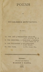 Poems of established reputation : to wit : 1st. The art of preserving health