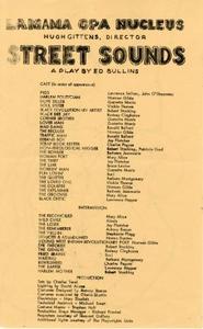 "Program: ""Street Sounds"" (1970)"