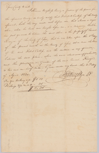 Affidavit of apprehension of Moses, property of Edward Rouzee