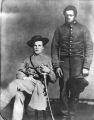 John Wallace Comer, C.S.A., with his servant, Burrell.