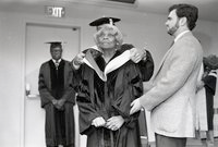 Singer Marian Anderson receiving an honorary degree