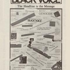 Title page of the Black Voice publication