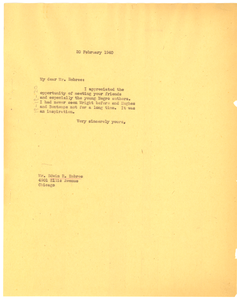 Letter from W. E. B. Du Bois to Edwin R. Embree