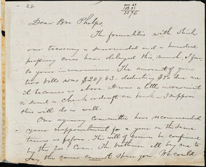 Letter from Elizur Wright, New York, to Amos Augustus Phelps, 1835 June 1
