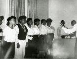 Nottingham High School Gospel Choir performance at the 'Jack and Jill of America' meeting at the Hotel Syracuse.