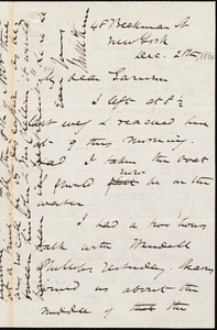 Letter from James Miller M'Kim, New York, [N.Y.], to William Lloyd Garrison, Dec[ember] 28th [1864]