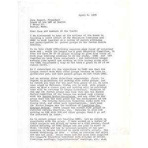 Letter, April 6, 1978.
