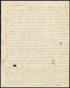 Letter from Amos Farnsworth, [Groton, Mass.], to Anne Warren Weston, [6 Nov. 1842?]