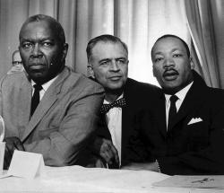 G. Mennen Williams with Martin Luther King and Horace Sheffield