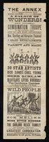 """Handbill: """"The Annex to P.T. Barnum's Great Show: A Palace of Wonders"""""""