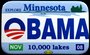 Button from Barack Obama rally held in St. Paul