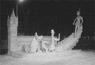 Snow sculpture, Québec Winter Carnival