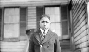 Dunbar High School. Theodor Tynes, student working way through High School. 1300 Floyd Street. 2nd year of High School. Hopes to enter Virginia Union 1926. Bell boy Vgn Hotel 28_6 tips total $70 per month.