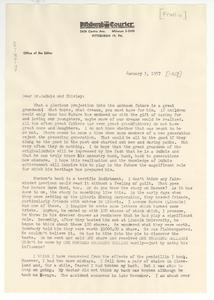 Letter from Percival Prattis to Shirley Graham Du Bois