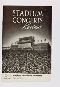 Stadium-NY Philharmonic Printed Program (Stadium Concert), Jul 01, 1961 at Lewisohn Stadium in Manhattan, NY; Hugo Fiorato, conductor.