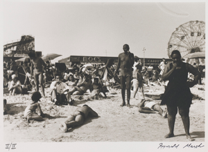 Untitled--People on Beach with Ferris Wheel, from the portfolio Photographs of New York