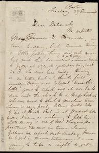 Letter from Maria Weston Chapman, 38 Summer St., Boston, to Deborah Weston, Tuesday