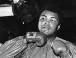 Ali on the speed bag
