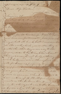 Letter from Evelina A. S. Smith, Hingham, [Mass.], to Caroline Weston, Monday eve[ning], August 8, [1838?]
