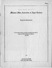 """""""A Comparative Study of Average Annual Salaries Paid to Negro and White Teachers in Missouri"""""""