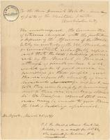 Letter from Amistad Committee to Daniel Webster