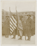 Color bearers of the 15th Infantry Regiment of the New York National Guard, which later became the 369th Infantry, 1918