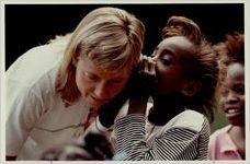 Cokithia Hilliard with Susan Martin, a volunteer for the Cool Girls club, May 30, 1990