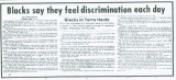 African-Americans-Blacks in Terre Haute: Blacks say they feel discrimination every day