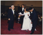 Playful wedding ceremony