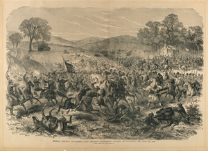 "General Buford's Engagement with Stuart's Confederate Cavalry at Boonsboro, MD. July 9th, 1863, from ""The Soldier in Our Civil War"""