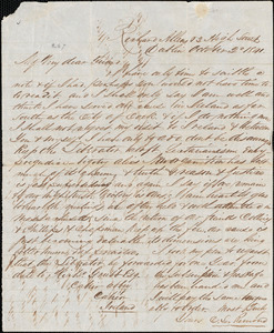 Letter from Charles Lenox Remond, Dublin, [Ireland], to William Lloyd Garrison, 1841 October 2d