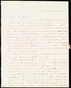 Letter from Mary Ann White Johnson, Sing Sing, [New York], to Maria Weston Chapman, November 24, 1844