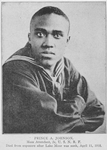 Prince A. Johnson, Mess attendant, 2c, U.S. N.R.F.; Died from exposure after Lake Moor was sunk, April 11, 1918