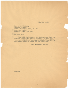 Letter from W. E. B. Du Bois to American Legion, Luther Patterson Post, No. 36