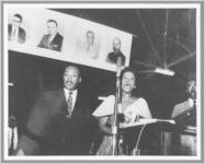 Dr. Martin Luther King, Jr. and Mrs. Daisy Bates address Freedom Rally