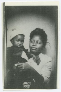 Portrait of Rosa Lee Cummings Berry with Her Nephew