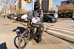 Salvador, Mexican delivery man, W. 139th St. at Malcolm X Blvd., Harlem
