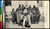 Girls and young women with a missionary nun, India, ca.1920-1940