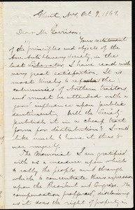 Letter from Aaron Macy Powell, Ghent, N.Y., to William Lloyd Garrison, to Oct[ober] 9, 1861