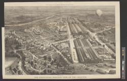 The Centennial--Balloon View of the Grounds. : Supplement to Harper's Weekly, September 30, 1876. / From Photographs by R. Newell & Sons, and Sketches by Theo. R. Davis.