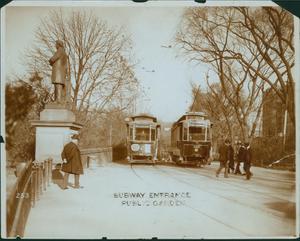 Subway entrance, Public Garden, Boston, Mass.