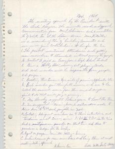 Minutes, Book Lovers' Club, November 1964