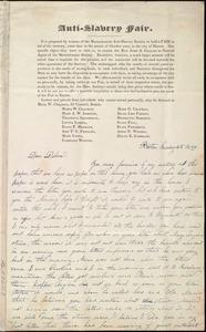 Letter from Lucia Weston, Boston, [Mass.], to Deborah Weston, Sunday 20th(?), 1839